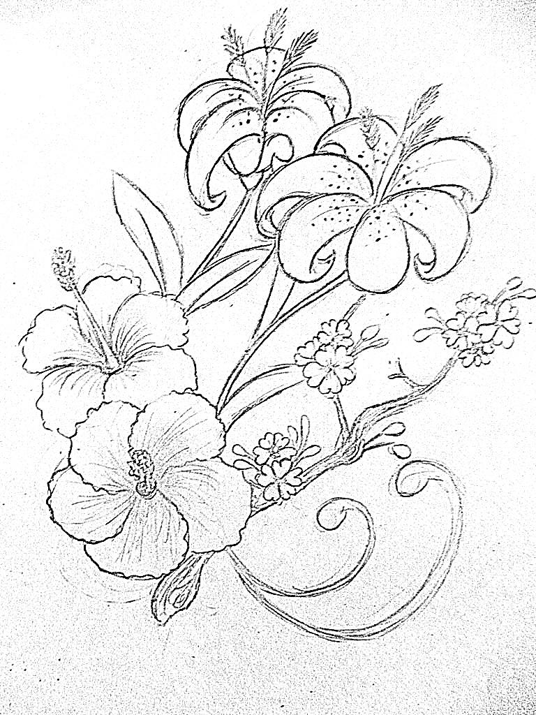 Hibiscus Tattoo Outline: Tropical Flower Tattoo Design By Taliachan On DeviantArt