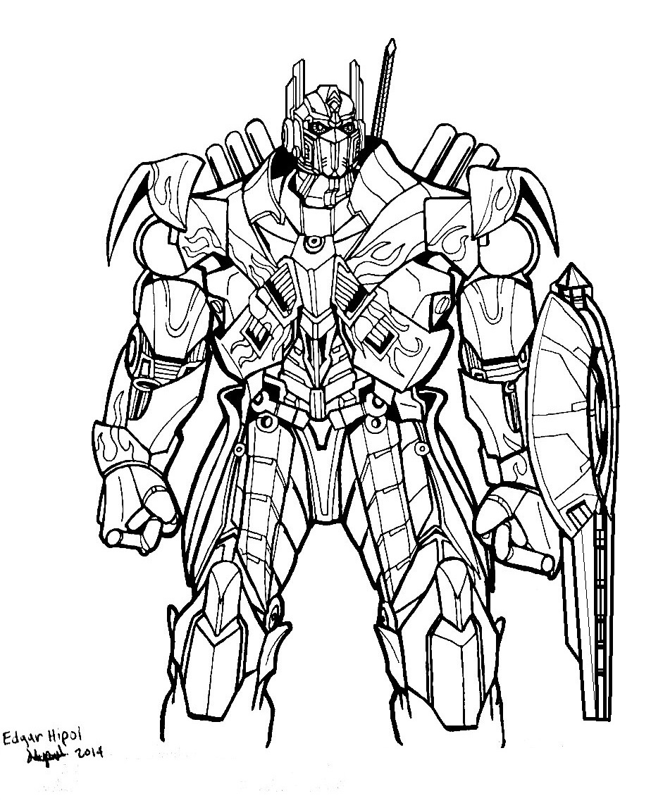 Transformers age of extinction optimus prime coloring for Transformers 4 coloring pages