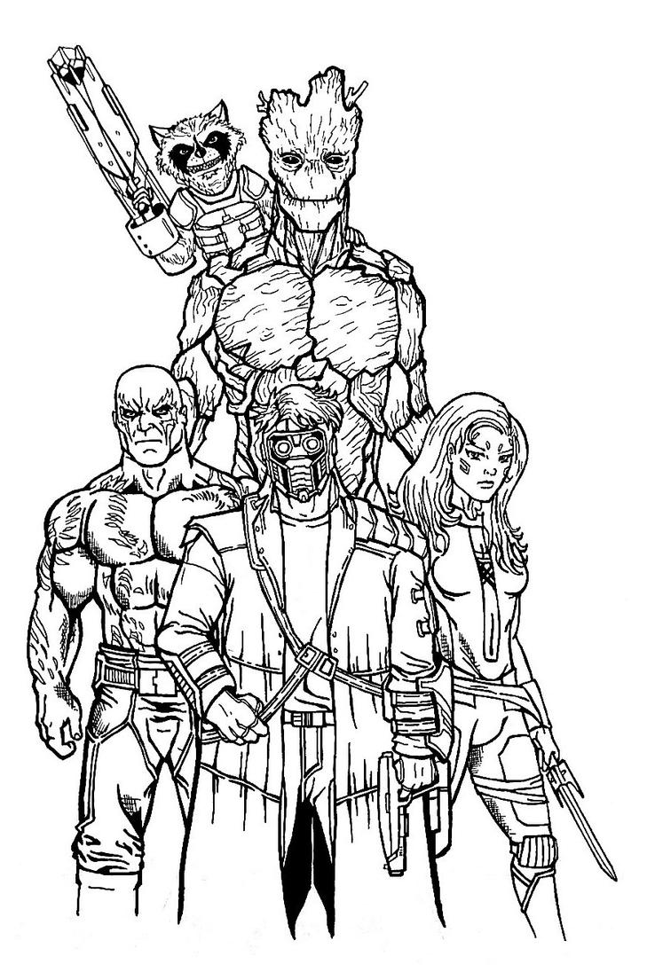 26 Guardians Of The Galaxy Coloring Pages Png