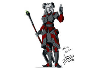 Rough sketch of my Dragon Age character