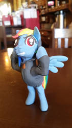 Rainbow Dash in Hoodie - part of Bronycon Collab