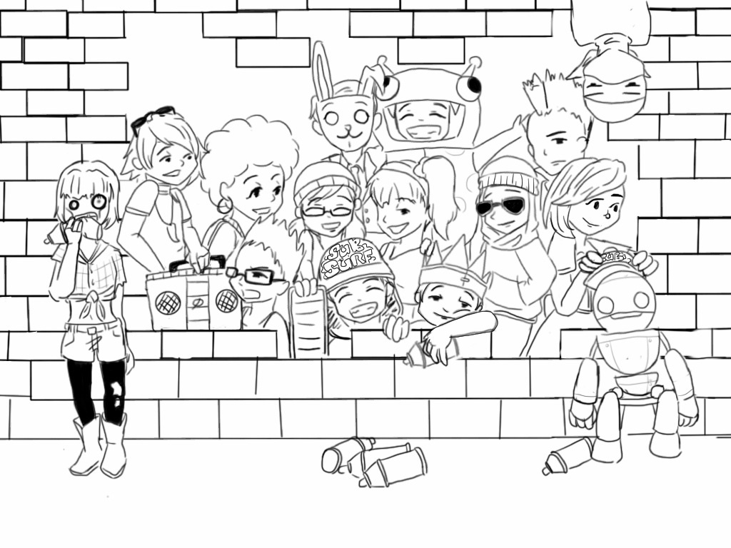 Subway surfers by aphnote on deviantart for Subway surfers coloring pages