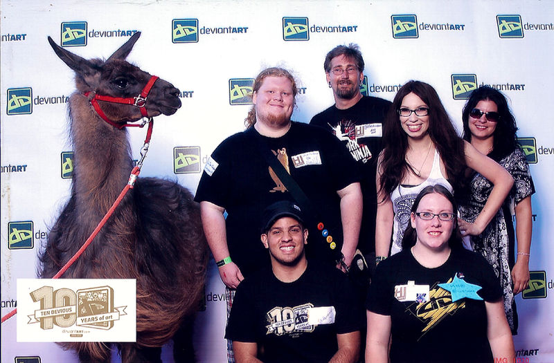 Red Carpet MN Team with Llama