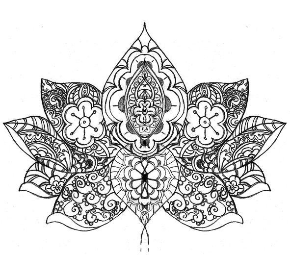 Mehndi Lotus Drawing : The gallery for gt lotus flower drawing henna
