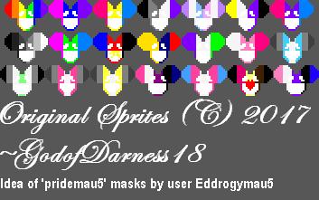 pridemau5 Masks (Commission for Eddrogymau5) by GodofDarness18