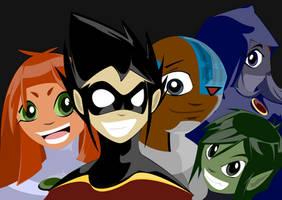 Teen Titans by chinkyflpz