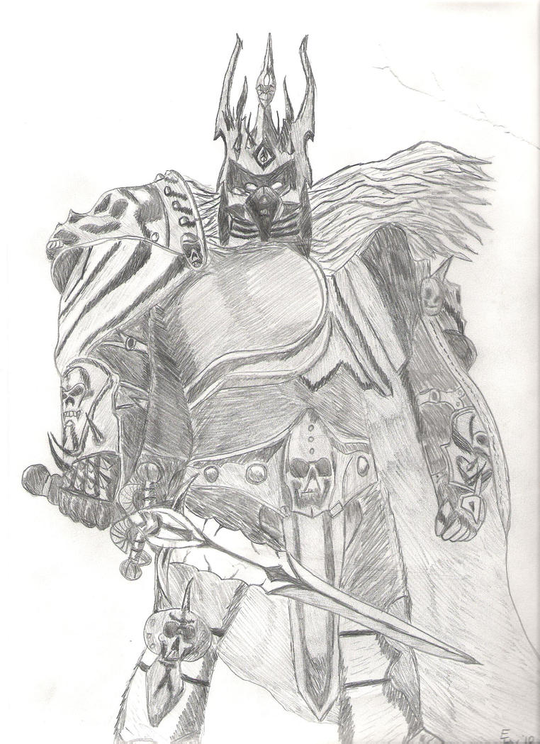 Lich King Drawing By Olympicadeus On DeviantArt