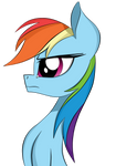 Side face Rainbow Dash by Dualtry