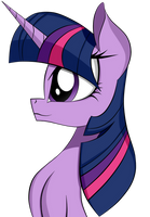 Side face Twilight Sparkle by Dualtry