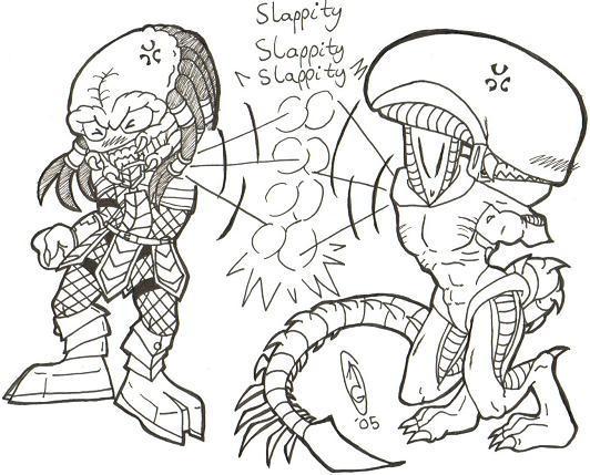 AVP: Bitchy Slap Slap Version