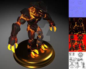 Lava Golem (and ArtStation Link)