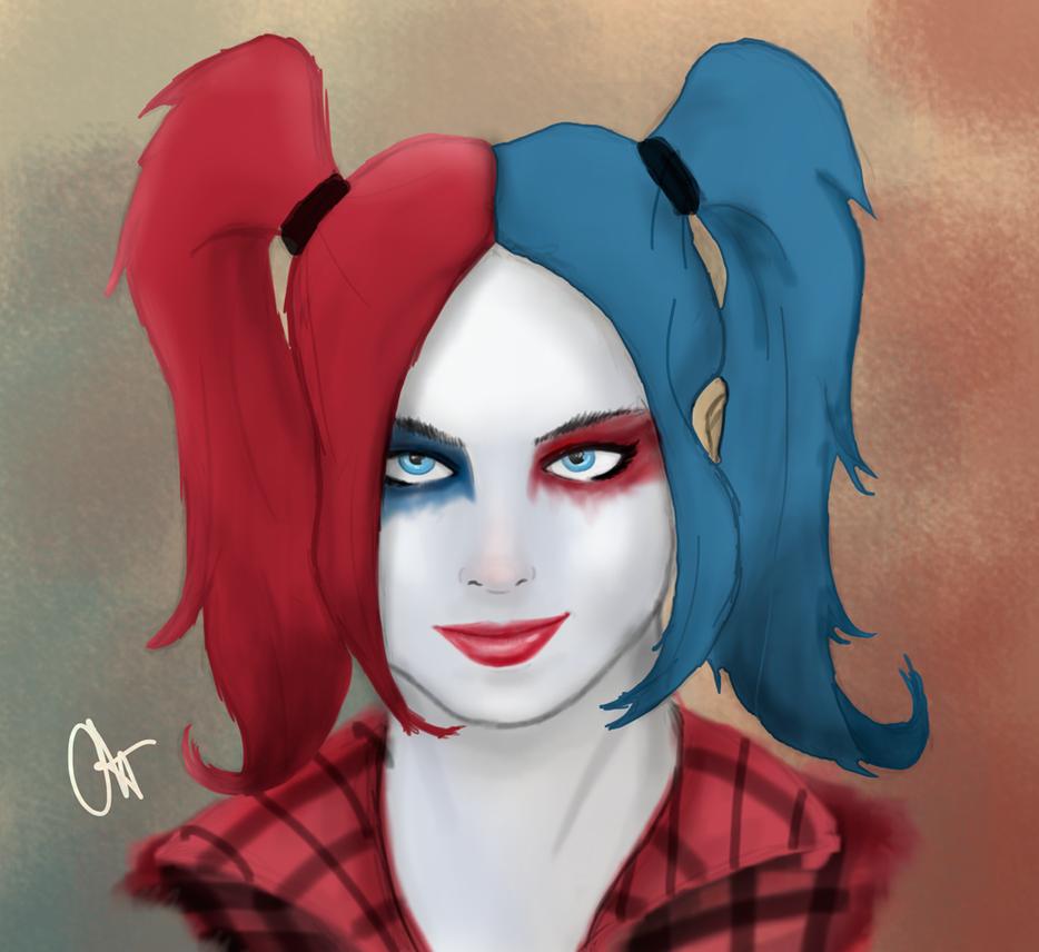 Harley Quinn (Margot Robbie) by OrangeFreeman