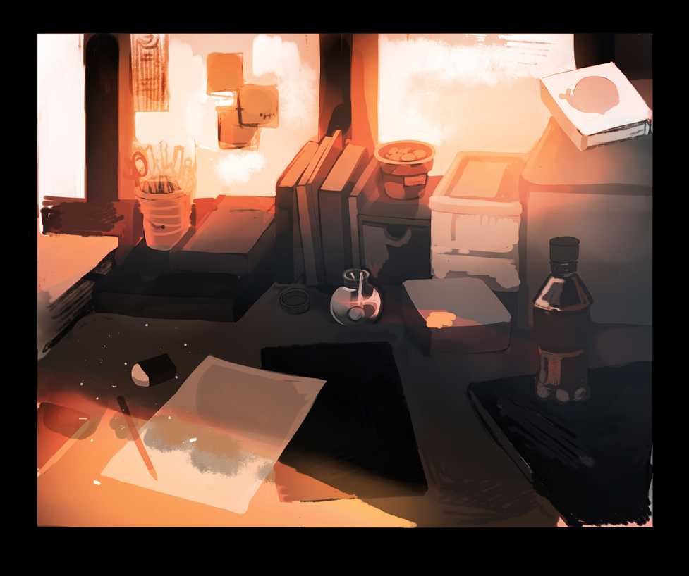 my homework table by JAhNiGhT
