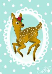 Fawn christmas card by xFwankiex