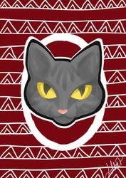 Cat Christmas card by xFwankiex
