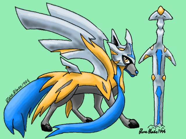 How I Think Shiny Zacian Looks By Blueblaze1994 On Deviantart Pokédex info for zacian (crowned) for pokémon sword & shield with zacian (crowned)'s stats, abilities, moves, and where to find it. how i think shiny zacian looks by