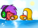 .::In the water::.