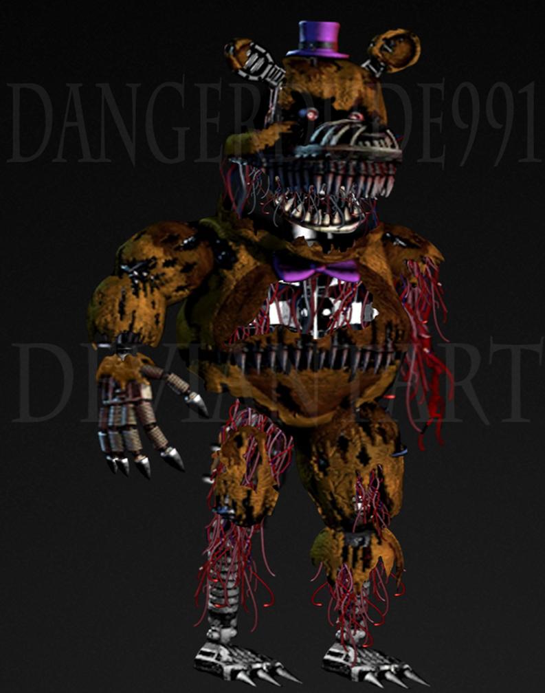 Withered fredbear by dangerdude991 on deviantart