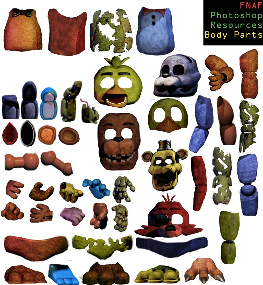Body parts resource pack non png version by dangerdude991 on