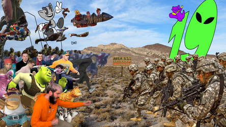 Deviantart helps with the area 51 raid