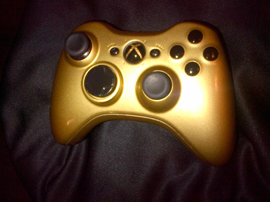 Xbox 360 Controller Custom Custom Golden Xbox 360