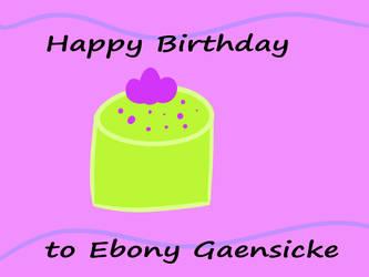 Happy birthday to me by foxebony
