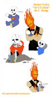 Dadby - Grilldad - Undertale Art Dump #2 by MismatchedGreenSocks