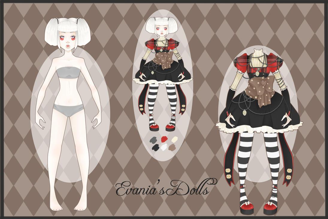 Adoptable Doll 1 - Evania's Dolls by whianem