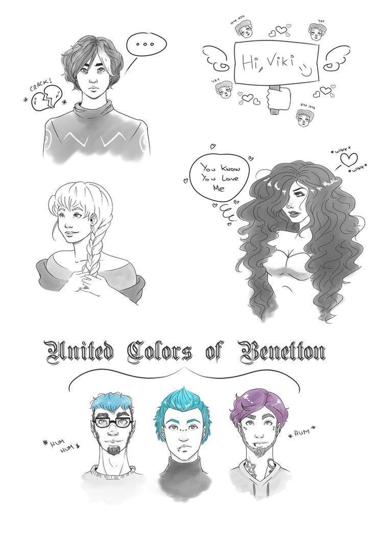 US - Sketches II: Various Characters by whianem
