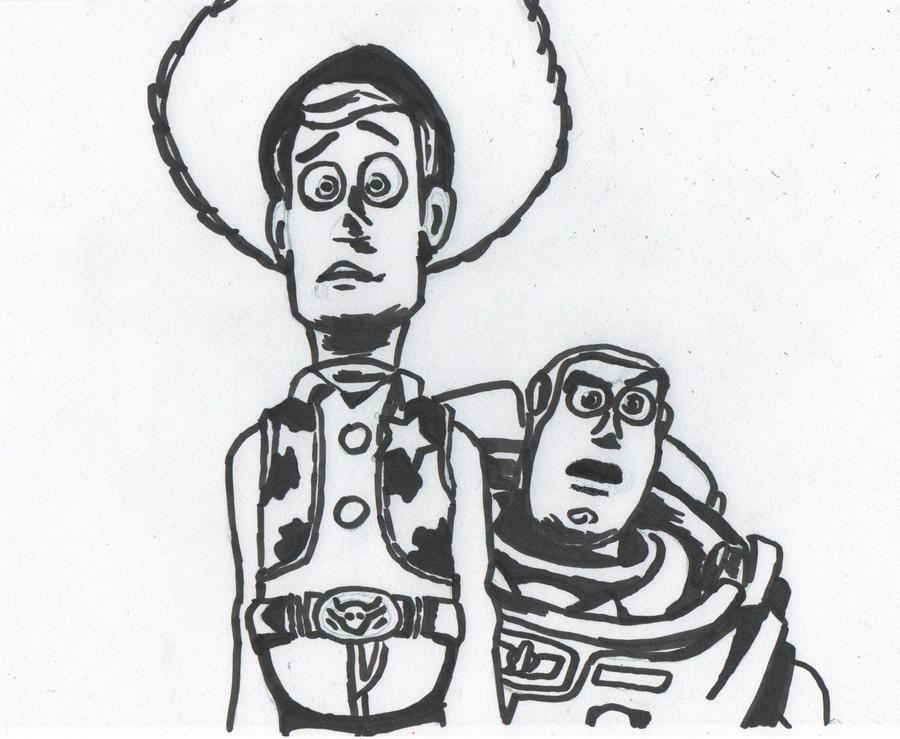 Woody and Buzz Toy story by rorschach-mentalityWoody And Buzz Drawing