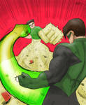 Sandman vs Green Lantern