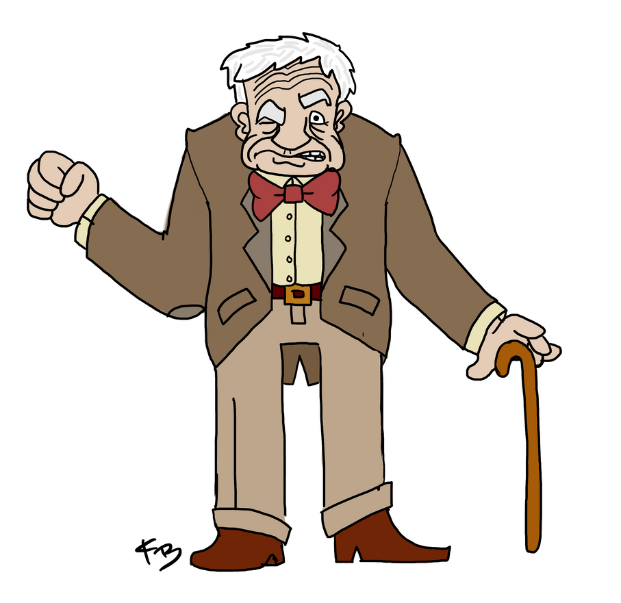 Grumpy Old Man Now in Technicolor by Spotprent