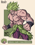 DBS Broly character art