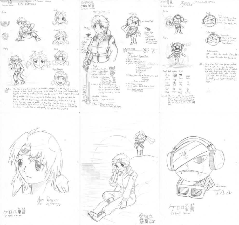 Keroro Gunso dojinshi concept by Prafa-AR