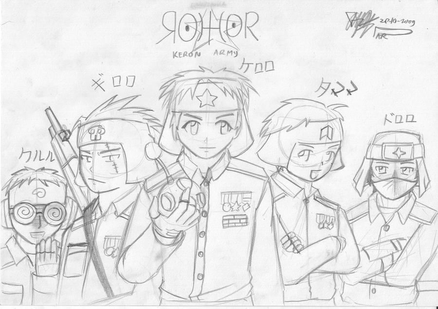 Keroro squad GIJINKA XD by Prafa-AR
