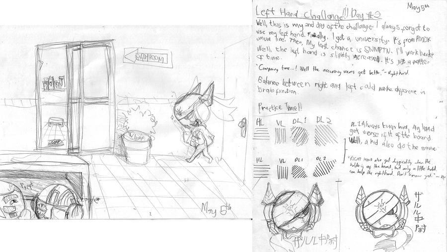 Left Hand Challenge: Day 2 by Prafa-AR