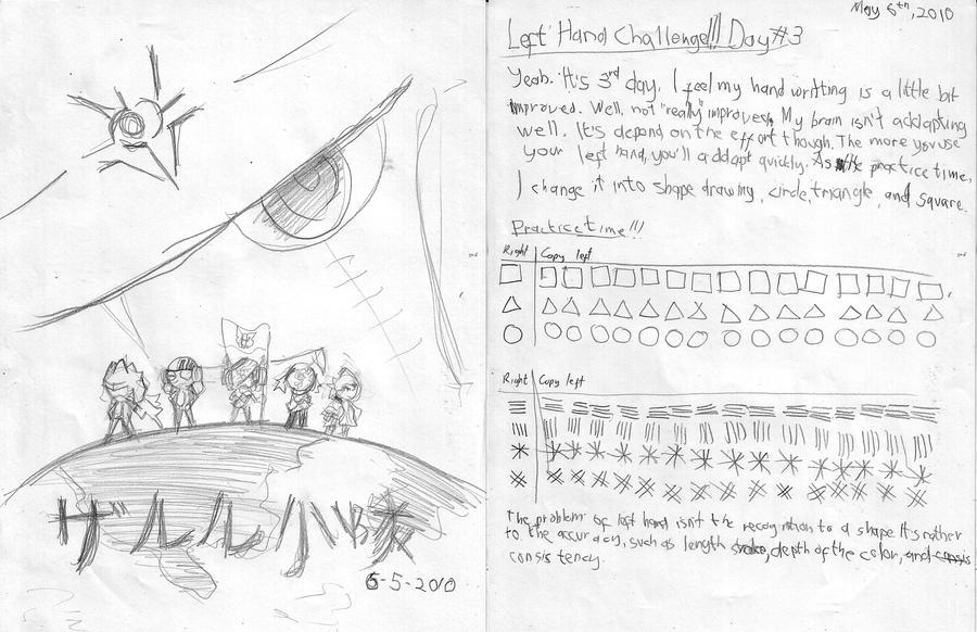 Left Hand Challenge: Day 3 by Prafa-AR