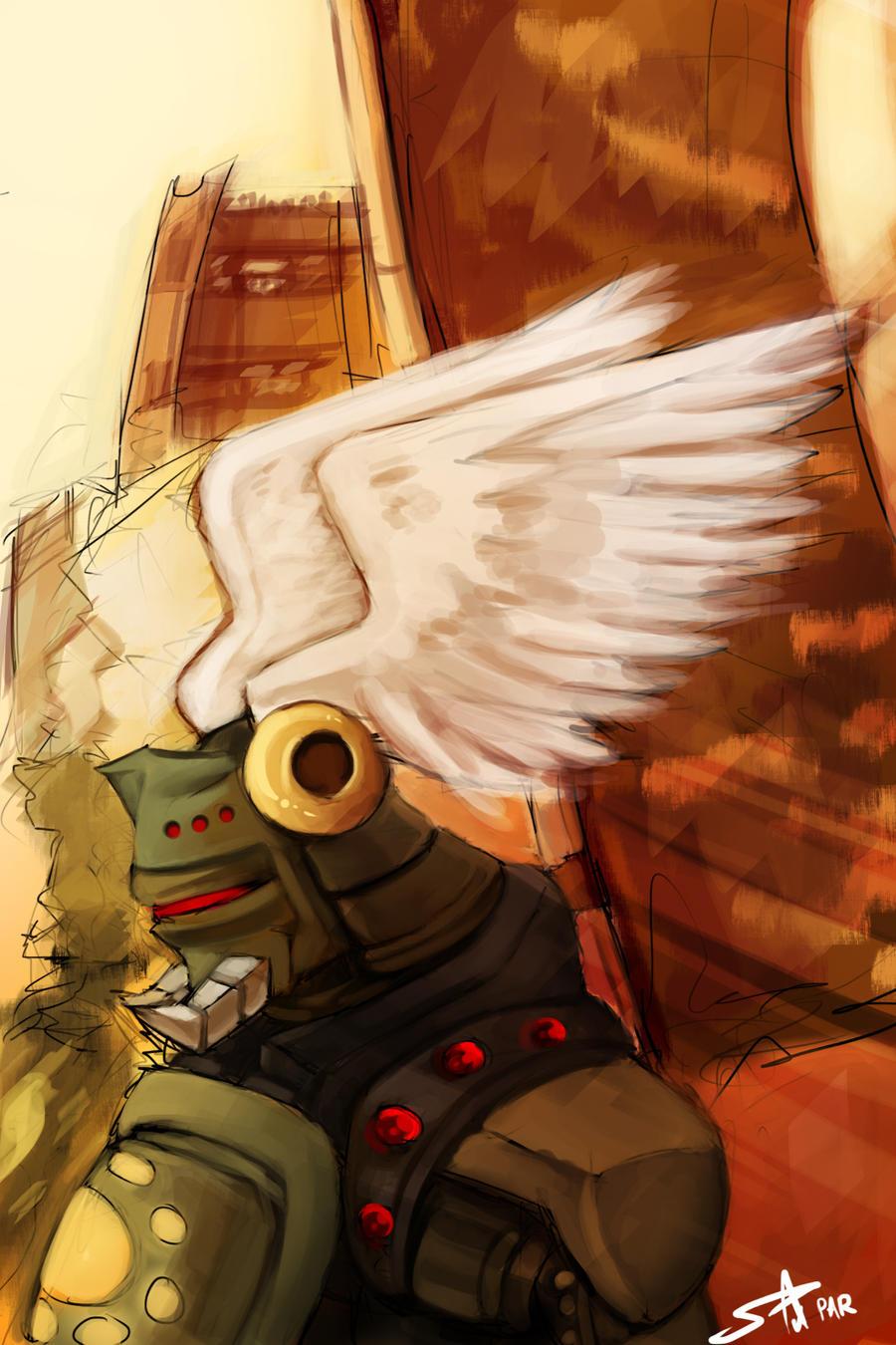 Warrior Speed Paint by Prafa-AR