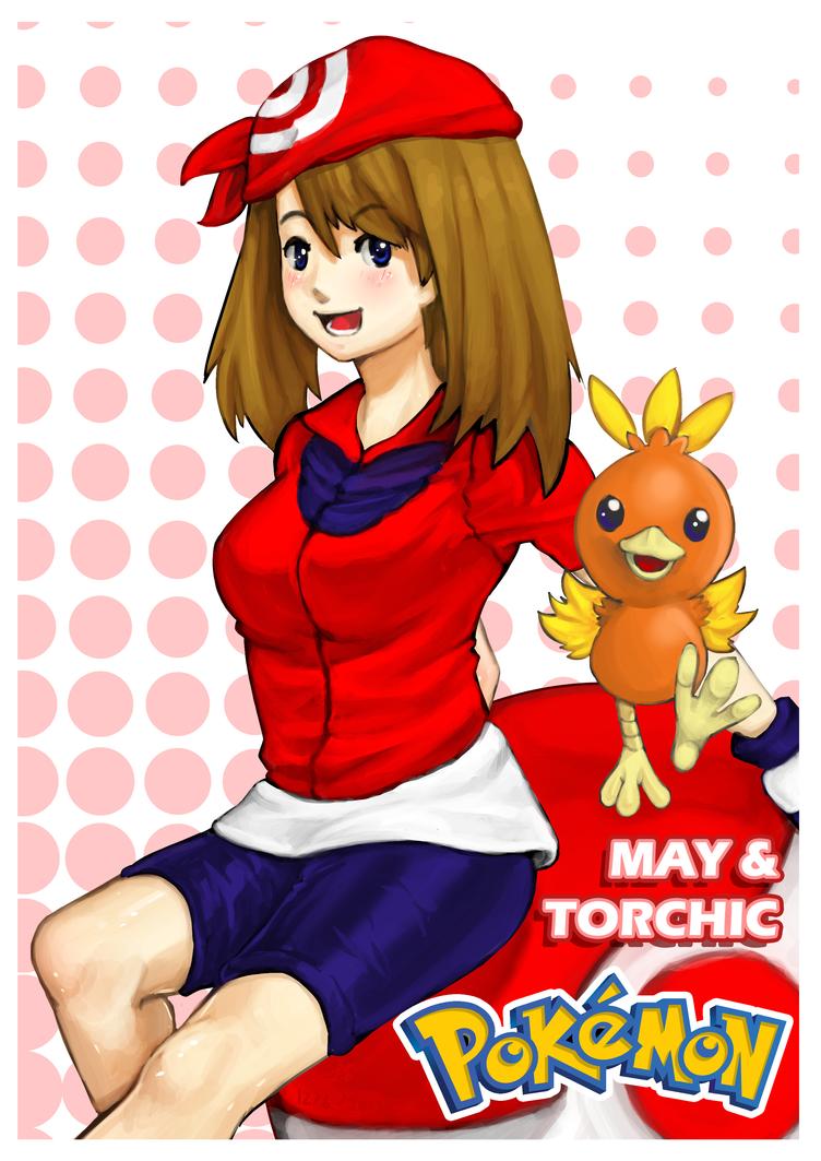 May and Torchic by Prafa-AR