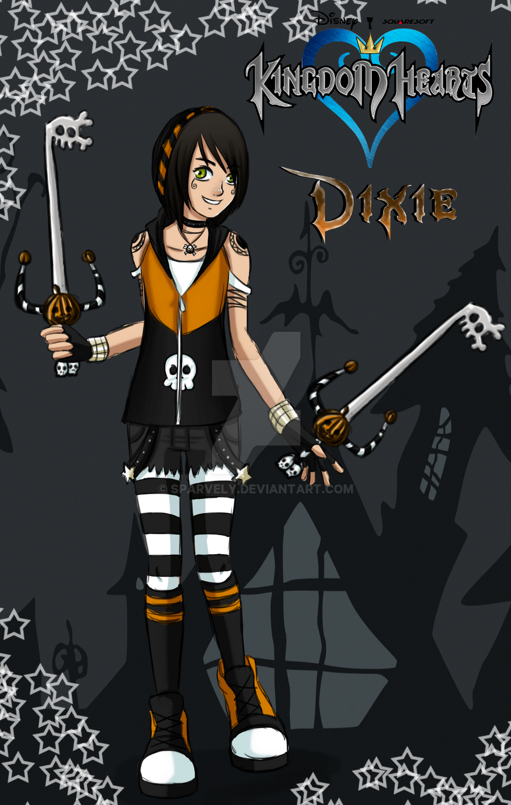 Kingdom Hearts OC - Dixie by Sparvely on DeviantArt