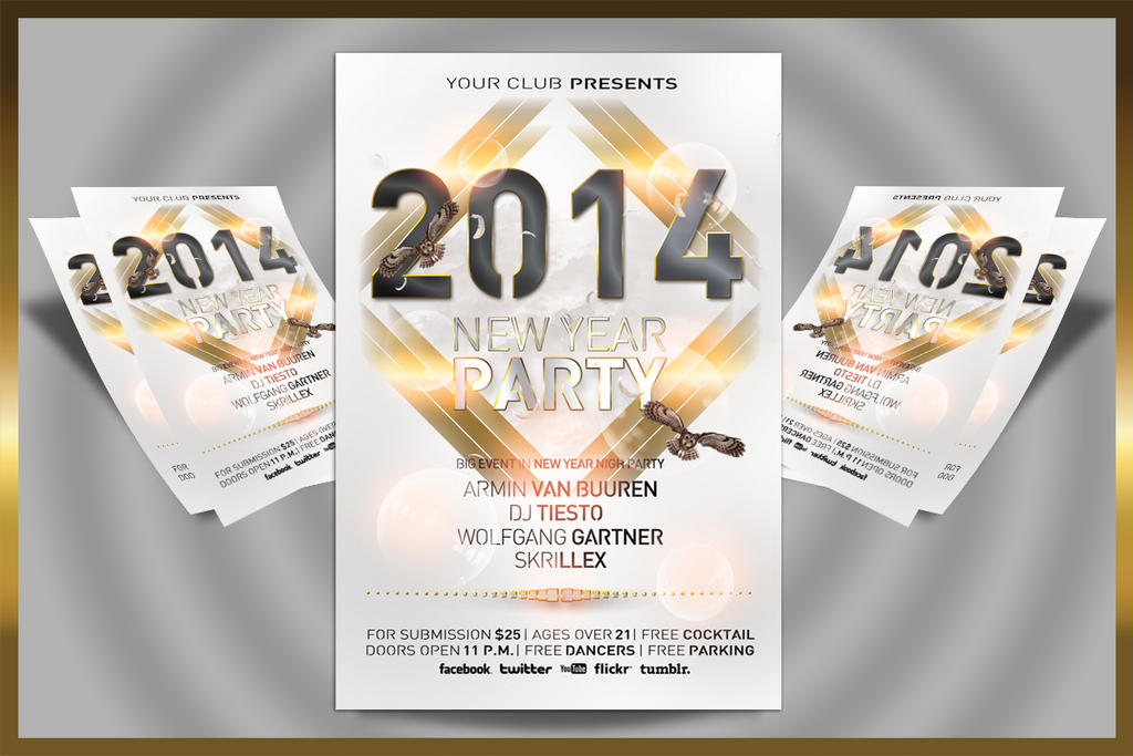 New Year Party Flyer by feydesignGR on DeviantArt