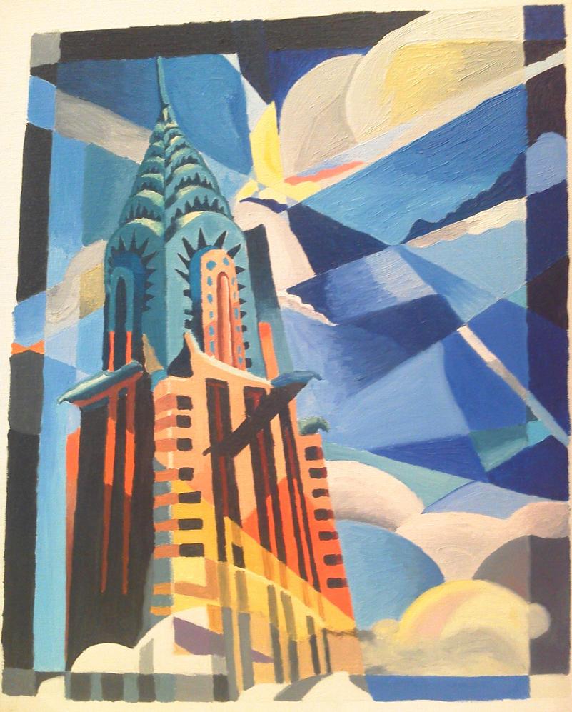 Chrysler building by almu92 on deviantart for Famous art deco art