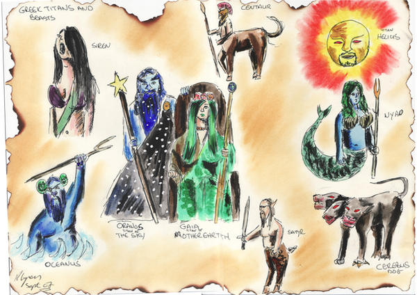 Gaia and other greek figures by lyness
