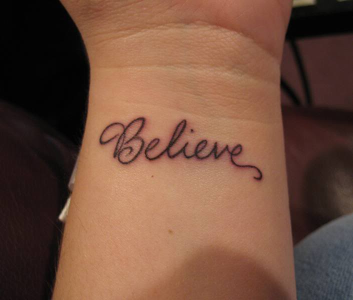 Tattoo Quotes Hand: Believe Tattoo By Lonelyagnel On DeviantArt