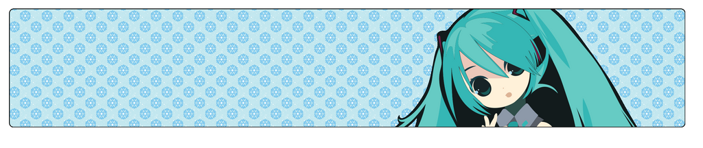 Hatsune Miku (divider) by Koymija