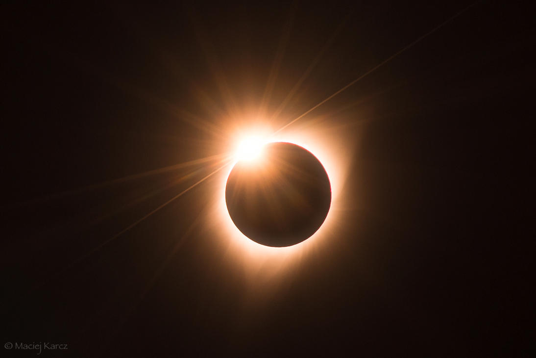Diamond Ring Solar Eclipse by MaciejKarcz