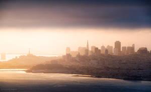 Golden Gate Dawn by MaciejKarcz