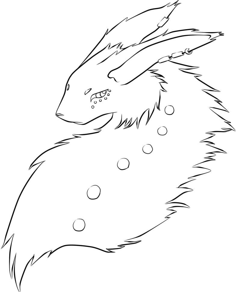 Line Art Help : Furry dragon line art help please by lenerdismx on
