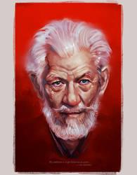 Ian McKellen by superschool48