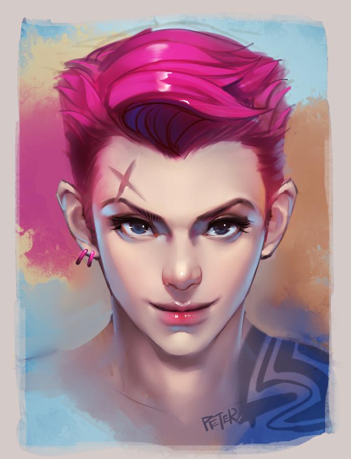 Widowmaker Face Paint